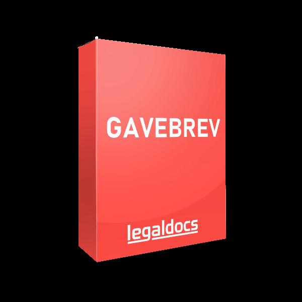Gavebrev-skabelon